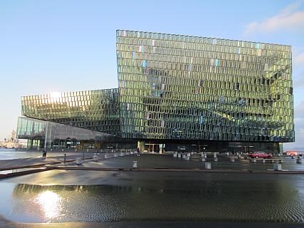 Facade Harpa Concert Hall Reykjavik